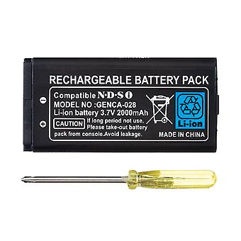 2000mah-rechargeable Lithium-ion Battery + Tool Pack Kit For Nintendo Dsi Ndsi