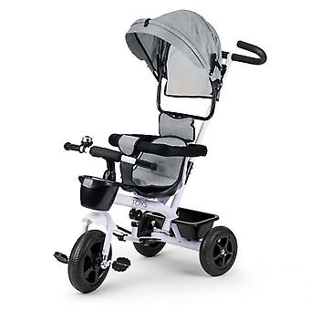 Passeggino e bici per bambini in-1 bianco con grigio