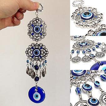 Blue Rhinestone Pendants Amulet Wind Chimes - Home Wall Hanging Decor Blessing