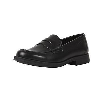 Geox J Agata D Tytöt nahka koulun kengät / slip brogues - musta