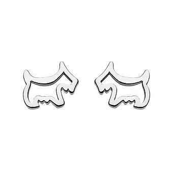 Dew Sterling Silver Dinky Scotty Dog Stud Boucles d'oreilles 4041HP014