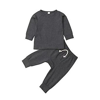 New Fashion Infant Baby Pajamas Set Sleepwear Night Long Sleeve Clothes Outfit