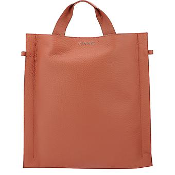 Orciani B01983softmattone Women's Red Leather Tote