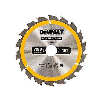 DEWALT Construction Circular Saw Blade 190 x 30mm x 18T DEWDT1943QZ