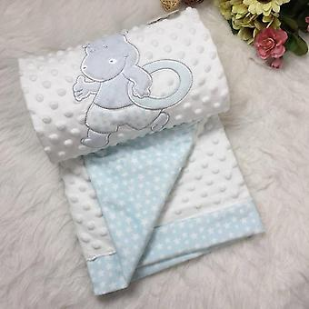 Multi-purpose dobbelt broderi prægning Animal Pattern Soft Blanket