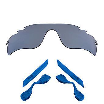 Polarized Replacement Lenses Kit for Oakley Vented Radarlock Path Silver Blue Anti-Scratch Anti-Glare UV400 SeekOptics
