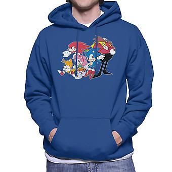 Sonic The Hedgehog Group Together Men's Hooded Sweatshirt