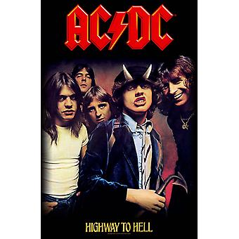 AC/DC Highway To Hell Poster nuevo oficial textil bandera 70 x 106 cm