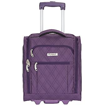 "Flight knight 16.5"" underseat luggage carry on smart cabin hand luggage 42x35x20cm 2 wheels"