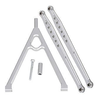 3pcs RC1:10 Buggy Silver Alloy Rear Chassis & Suspension Rod Linkage for AXIAL