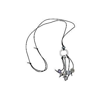 Necklace Grey Beads 90cm