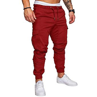 Men's Baggy Trousers Casual Elastic Pants