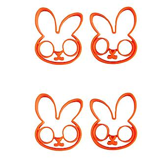 4PCS13.5x13x1.5cm Expression Symbol Silicone Pancake Mold Orange Rabbit Type