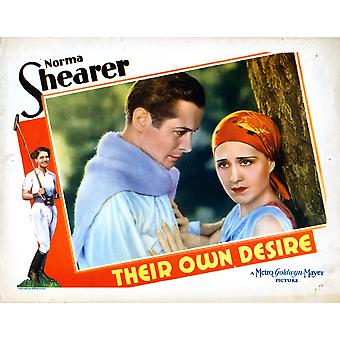Their Own Desire From Left Robert Montgomery Norma Shearer 1929 Movie Poster Masterprint