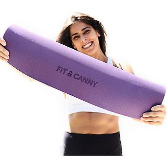 FIT&CANNY Yoga Mat non slip TPE EcoFriendly material. For Yoga practice