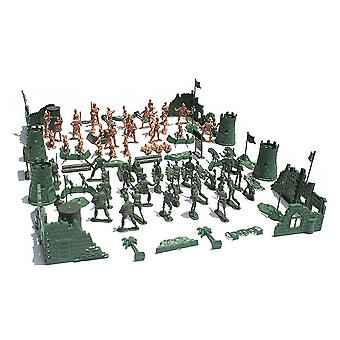 Military sand table scene military base Plastic soldiers 5cm for A Crops Army