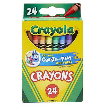 Crayons, Normale Größe, 24 Zählen - Bin3024