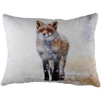 Evans Lichfield Fox Winter Cushion Cover