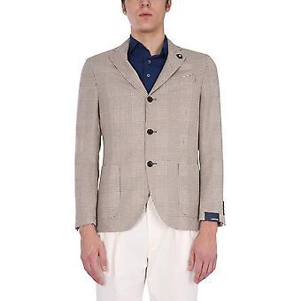 Lardini El528ae150be Men's Grey Wool Blazer