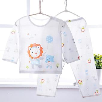 Pajama Infant Sets For / - Long Sleeve Soft Bamboo Fiber Thin Baby's Sleepwear