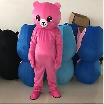 Teddy Bear Mascot Costume Suit Adult Cosplay Halloween Party Game Dress Outfits