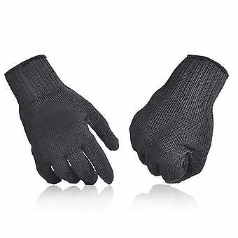 IPRee 1 paar van 5 niveau anti-cutting handschoenen roestvrij staal draad veiligheid werk handen protector cut pro