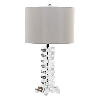 Bureaulamp DKD Home Decor Acryl linnen metaal (38 x 38 x 68 cm)