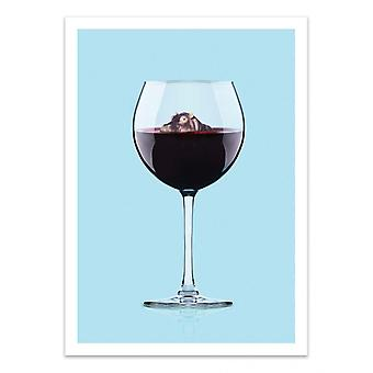 Art-Poster - Wino hipopotama - Artem Pozdnyakov