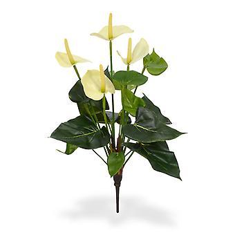 Bouquet anthurium artificiale 40 cm bianco