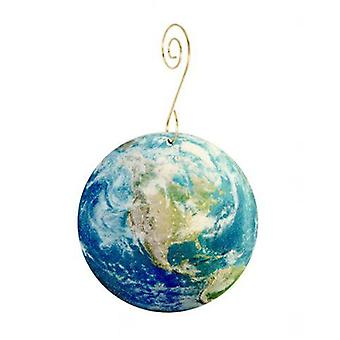 Mapped Earth Ornament
