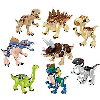 Jurassic Dinosaur Bloks Dinosaur Tyrannosaurus Rex Stegosaurus Rakennussarjat