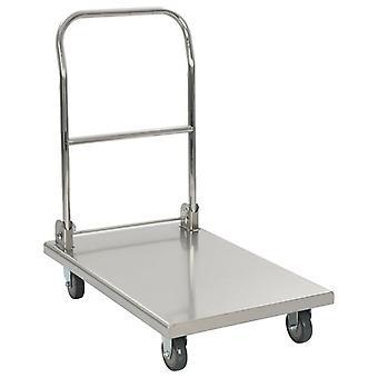 Platform Wagon Silver 82x53x86 Cm Stainless Steel