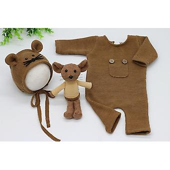 Baby Newborn Photography Props, Mouse Doll Baby, Romper, Bodysuits Outfit