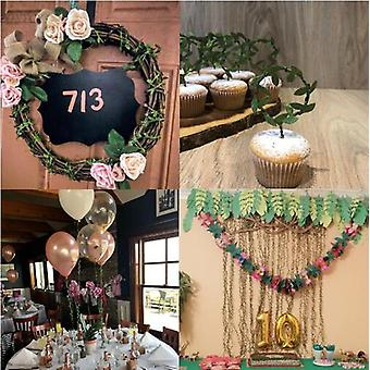 20/40 Meter Leaf-Shaped Handmake Artificial green Leaves For Wedding Decoration DIY Wreath Gift Scrapbooking Craft Fake Flower