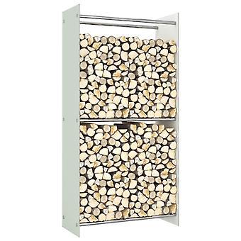 Firewood Rack White 80x35x160 Cm Glass
