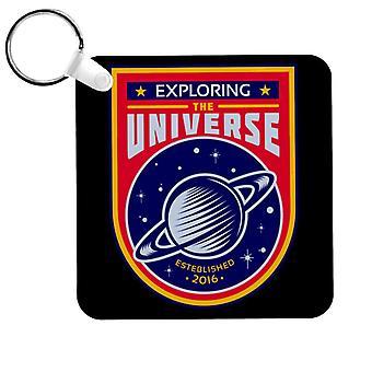 NASA Exploring The Universe Saturn Keyring