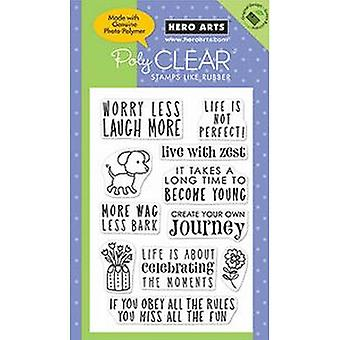 Hero Arts Life Is Not Perfect 6x4 inch Clear Stamp