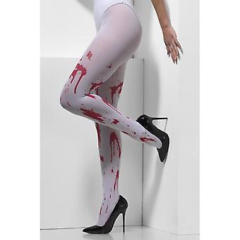 Volwassen Halloween Bebloede Panty's