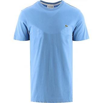 ラコステ ライト ブルー 半袖 クルー ネック T シャツ