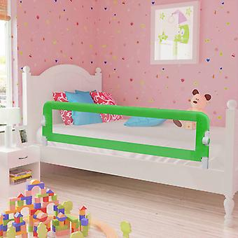 """סורג הגנה על מיטת פעוט vidaXL 2 חתיכות ירוקות 150 x 42 ס""""מ"""