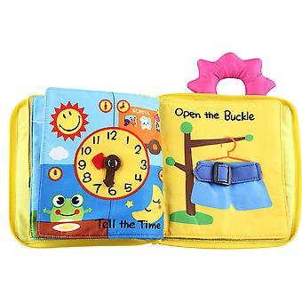 Open The Buckle Sensory Non-toxic Fabric Book Soft Touch Cloth Book