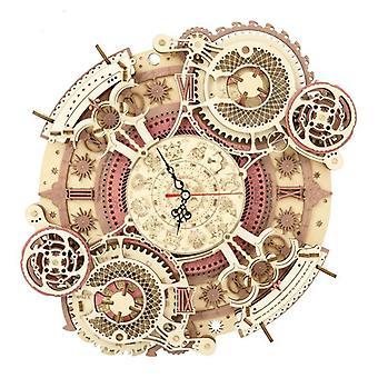 RJ Zegar ścienny zodiaku 3d Drewniany Model