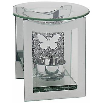 Mirror Crystal Oil Burner Butterfly Design By Lesser & Pavey