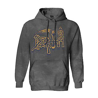 Death Hoodie Leprosy Band Logo new Official Mens Vintage Wash Pullover