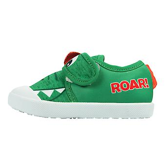Boys Green Vail Dino Low-Top Trainer UK Sizes Child 4 - 9