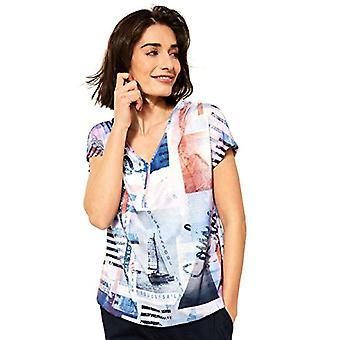 Cecil 316080 T-Shirt, Provence Blue, XS Woman