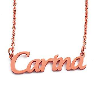 KL Carina - Kaulakoru custom nimi, päällystetty 18 karat ruusu kultaa, säädettävä ketju 16 - 19 cm