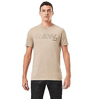 G-STAR RAW 3D Raw. Slim T-Shirt logotyp, Lt Rock 336/3000, XS Herr