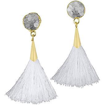 KYEYGWO - Kvinnors örhängen med tofs, boh mien stil, med tråd, med kristaller och droppträd och legering, färg: Ref örhängen. 0715444084492