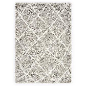 vidaXL Berber tapijt hoge stapel PP zandverven en beige 140 × 200 cm